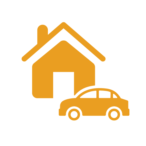 Icon Home with car - Foundation Insurance Group